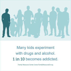 Infographic: Many kids experiment with drugs and alcohol